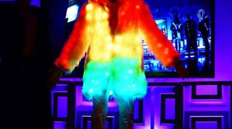 Fur Cape with LED lighting Glitch