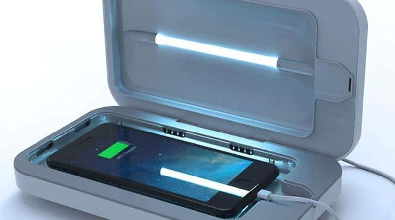 A charger with a sterilization function 3 PhoneSoap