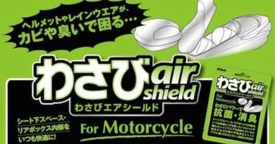 Air purifier based on wasabi for motorcyclists