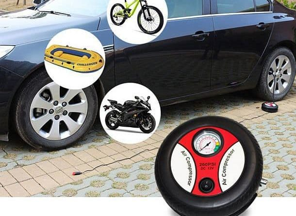 Portable electric car air compressor