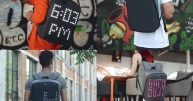 Backpack with pixel screen Pix