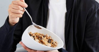 Ergonomic dish for Breakfast cereal