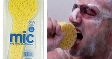 Sponge for fans to sing in the shower Shower Sponge Microphone