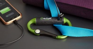 Carabiner with built-in poverbank Powerbiner