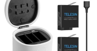 Triple charger for GoPro batteries from Telesin