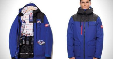The jacket is a cooler section for beer cans 686 X PBR Sixer
