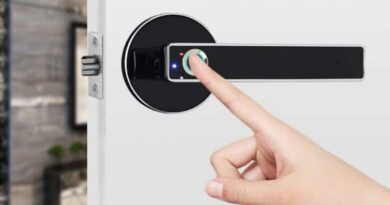 Smart lock with biometric sensor